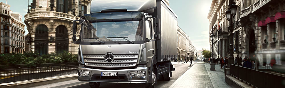 De Mercedes-Benz Atego voor distributietransport